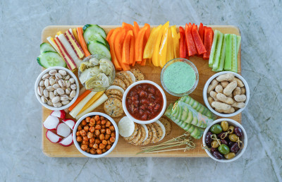 veggie tray, healthy choices, bring your own, vegetables, health, weight gain, Santa Belly