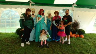 Frozen, Ariel, Cinderella, ant the Martin-Welsh family, Kitchener On