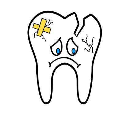 broken tooth chipped damaged crown capped dentist uncomfortable traditional