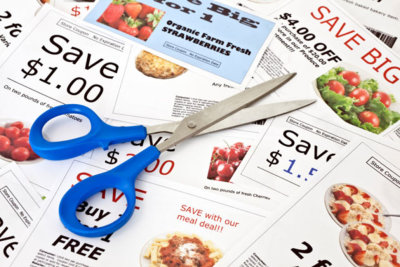 Coupon, savings, newspaper