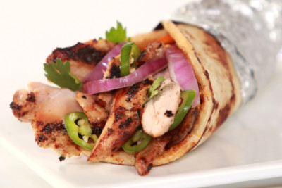 Chicken, tikka, wrap