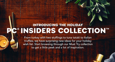 pc insiders collection presidents choice new products