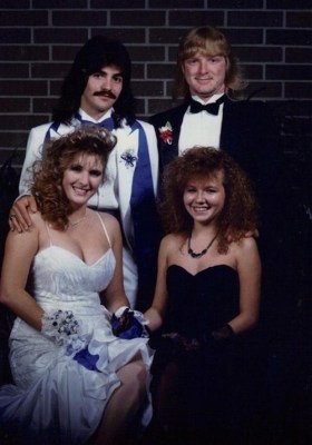 prom, photo, 80s, long mullets