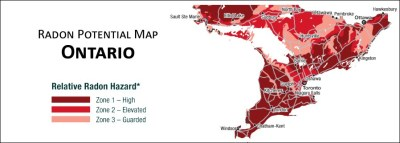 Radon Potential Map of Southern Ontario