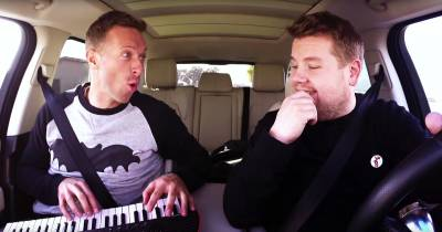 Carpool Karoke: James Corden with Chris Martin