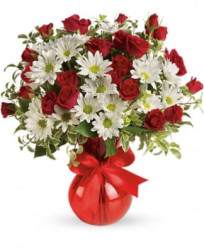 Red and white Canada Day floral bouquet by Brant Florist