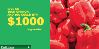 food basics survey win $1000 in groceries