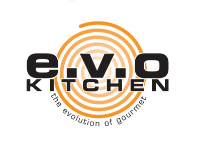 EVO Kitchen, logo, the evolution of gourmet
