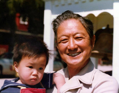 Dr. Holman Yu with grandfather