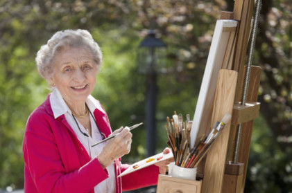 Retire at home art therapy, seniors, creativity