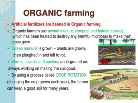 Organic farming, animal manure, compost