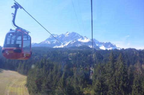Cable car, gondola, Switzerland, Mountain, Alps