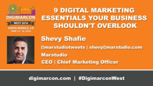 Shevy Shafie - Chief Executive Officer, Marstudio keynote speaker digimarcon 2017 cruise