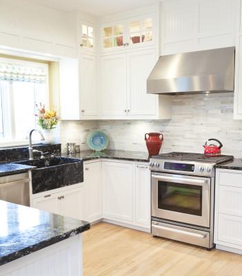kitchen renovation reno remodel apron sink farm sink stainless steel Habitat for Humanity Waterloo Region