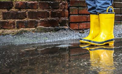 yellow boots, rain, positive thinking,sunshine