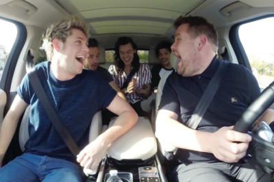 Carpool Karoke: James Corden with One Direction