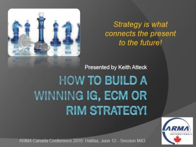 How to Build a Winning IG Strategy from ARMA Canada Conference , Halifax 2016