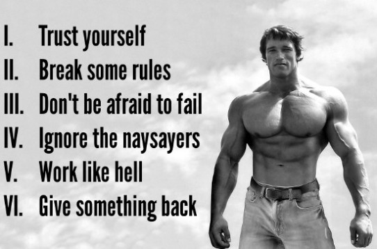 Arnold Schwarzenegger, success, hard work, planning, values, vision