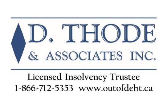 D Thode & Associates, British Columbia, Out of Debt