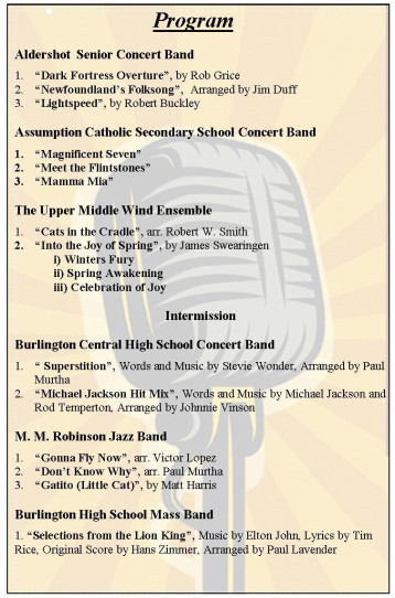 Burlington High School Benefit Concert - Thursday, April 19, 7 pm