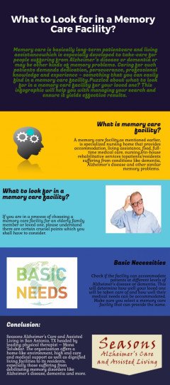 What to Look for in a Memory Care Facility ?
