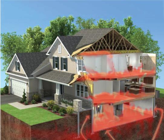 radon house, alder creek, radon testing