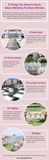Wedding furniture rental tips