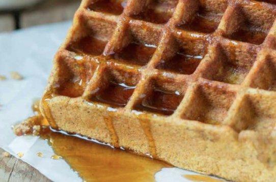 pumpkin waffles, paleo recipes