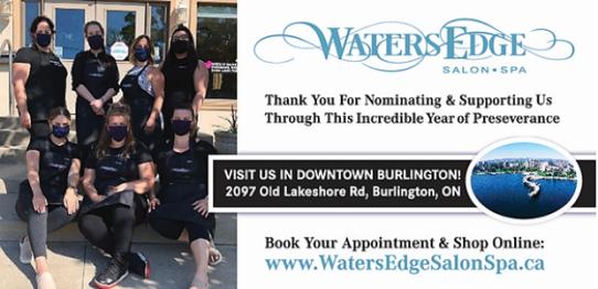 Waters Edge Salon and Spa, Burlington, Readers Choice Awards