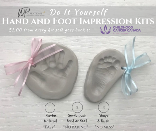 WP Creations, hand and foot impression kits