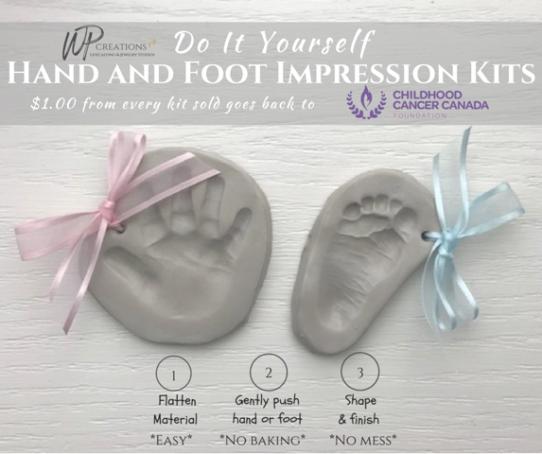 WP Creations, hand and foot impression kits