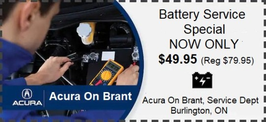 Acura On Brant Burlington, Battery Special
