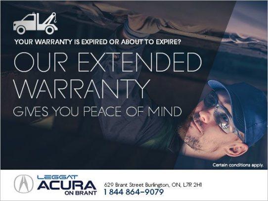 Acura On Brant Burlington, Extended Warranty Used Cars