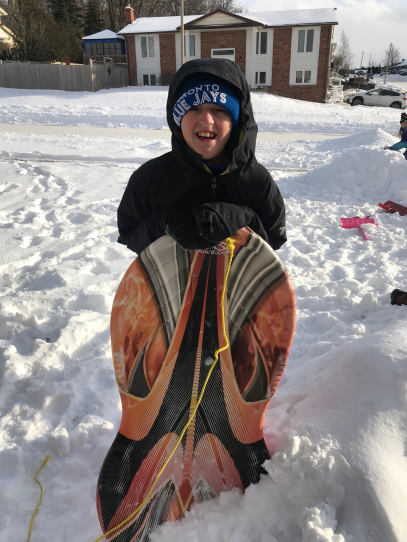 #winteractivities #outdoorplay #tobogganing #playingoutside #snowdays