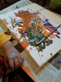 Art, Children, painting, discovery, family, home, childcare,