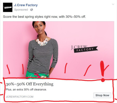 facebook ad, urgency