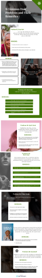 Common Hair Problems and Remedies Infographics