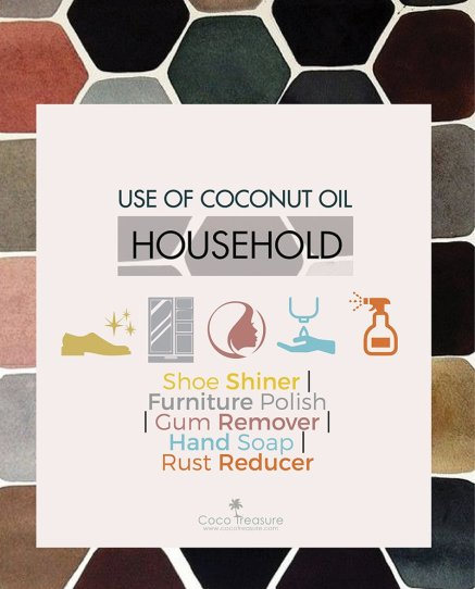 coconut oil uses, household use, coconut oil