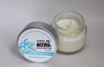 Moyaa Shea Butter, candles