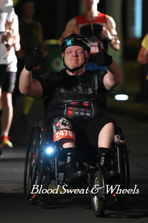 darkside challenge Mike Greer  wheelchair racing adaptive sport  freewheel