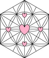 Heaven Scent, Crystal Grids, Rose Quartz Grid