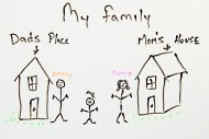 SCHOOL, TWO HOMES, SEPARATE, DIVORCE, FAMILY