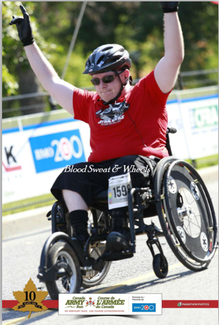 army run Mike Greer  adaptive sport wheelchair