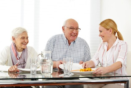 social, meal, retire at home