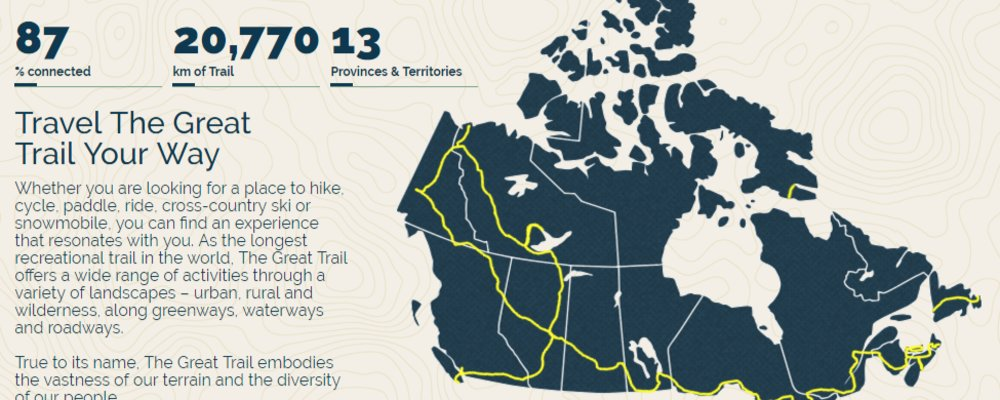 Great Trail project: An effort to connect Canada from coast to coast