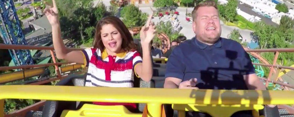 Roller Coaster Karoke with Selena Gomez & James Corden