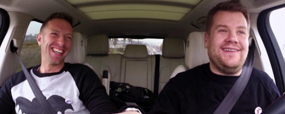 Carpool Karoke: James Corden with Chris Martin