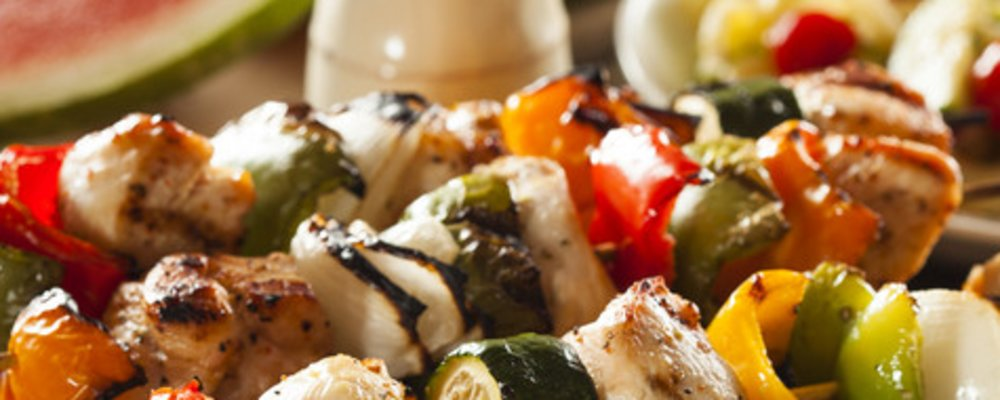 Summer Fun with Healthy Chicken Veggie Kebobs