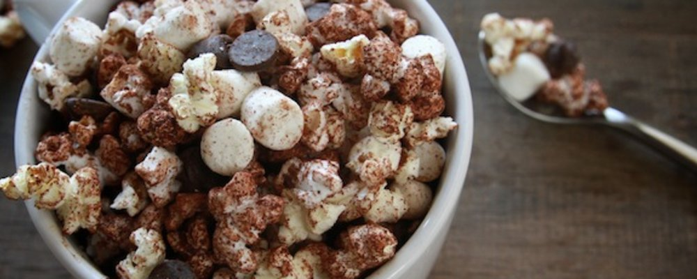 Hot Cocoa Microwave Popcorn