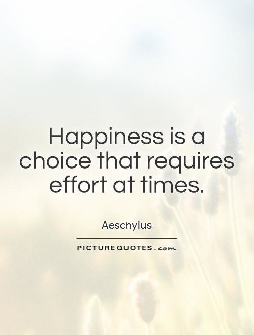Try, happiness